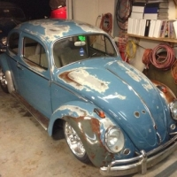 West coast touch: 1962 Volkswagen Beetle