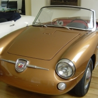 Tanned aluminium: 1958 Abarth 750 Spider by Allemano