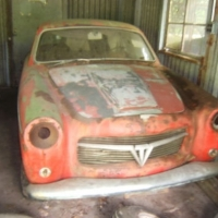 Missing rear glass: 1957 Fiat 1100 TV Coupé by Pininfarina