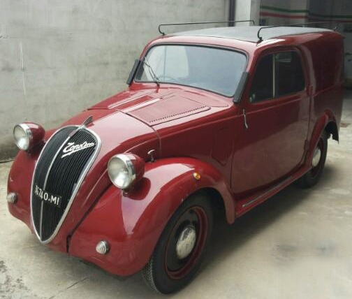 "Don't Drink And Drive: 1940 Fiat 500A Furgoncino ""Campari"
