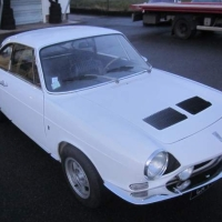 White declension: 1967 Simca 1200S Coupé by Bertone