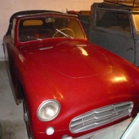 Red, small, open: 1949 Siata Amica by Bertone