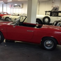 Red and open: 1961 Cisitalia-Abarth 850 Spider by Allemano