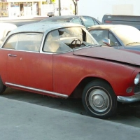 Half windshield: 1957 Simca Aronde Plein Ciel by Facel