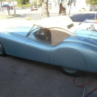 "Downsizing: 1950 Jaguar XK120 O.T.S. ""Alloy"""
