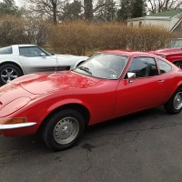 Corvette red: 1971 Opel GT 1900
