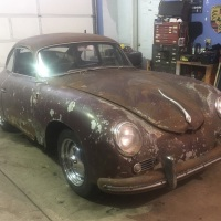 Snake on the hood: 1957 Porsche 356 A T2 Coupé