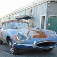 Welded louvers: 1961 Jaguar E-Type O.T.S.