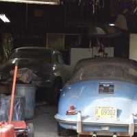 Two in a shed: 1961 Porsche 356 B T5 Cabriolet