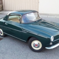 Cute green: 1956 Fiat 600 Coupé by Viotti