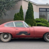 Aged Burgundy: 1962 Jaguar E-Type FHC